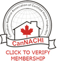 Coastal Inspection Services Home Inspectors are certified by CanNACHI - Canadian National Association of Certified Home Inspectors
